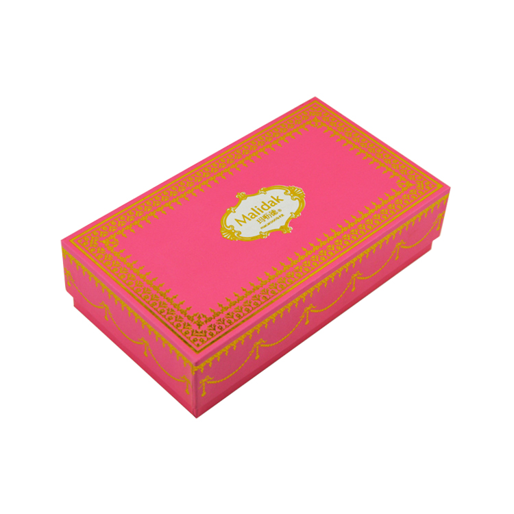 Dongguan Factory Luxury Handmade Fancy Paper Top And Bottom Style Gift Packaging Box With Gold Foiled Patterns