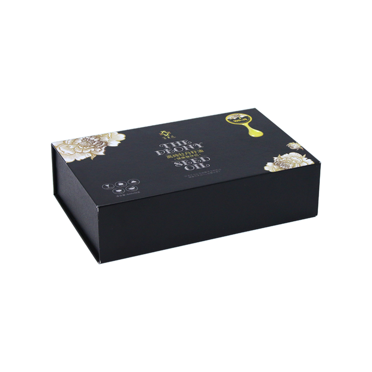Wholesale Luxury Magnetic Gift Box Gourmet Food Beverage Box Magnetic Flap with Plastic Holder