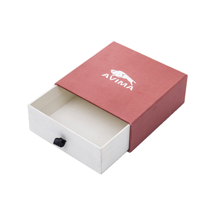 Slide Open Design Custom Printing Drawer Fancy Paper Packaging Bracelet Gift Box for Jewelry
