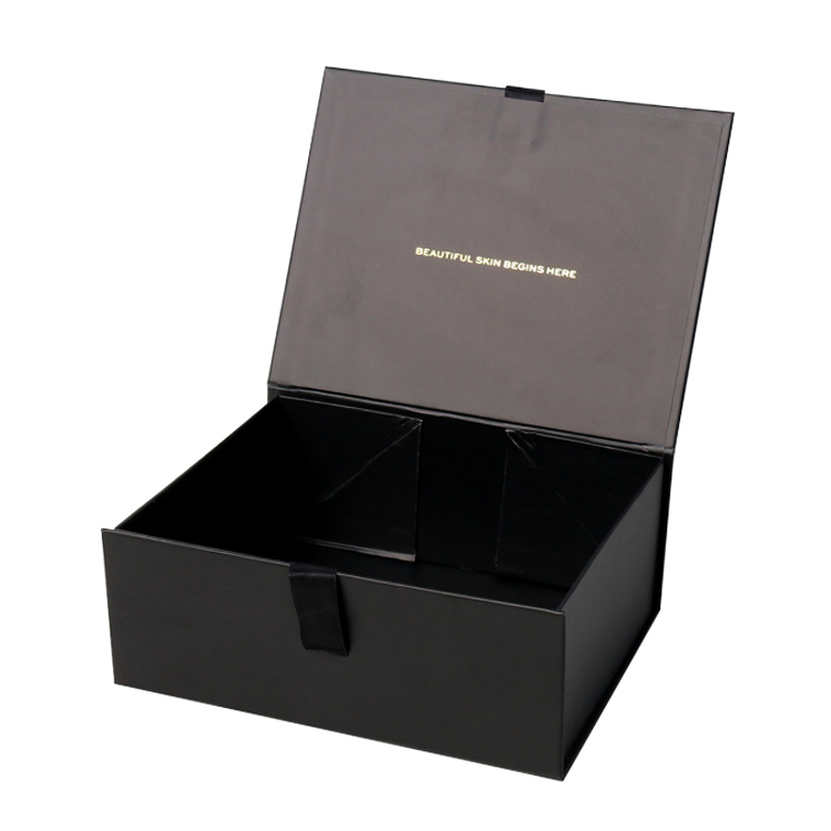 Wholesale Foldable Collapsible Magnetic Gift Box Packaging for Clothing Apparel with Silk Ribbon