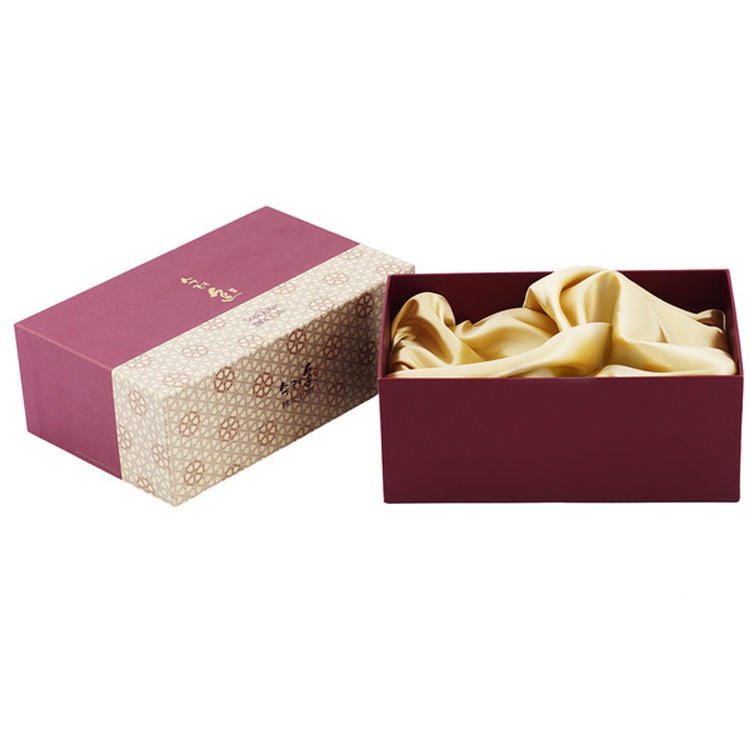Luxury Customized Satin Lined Fancy Rigid Cardboard Paper Lid and Base Gift Box for Cosmetics Packaging