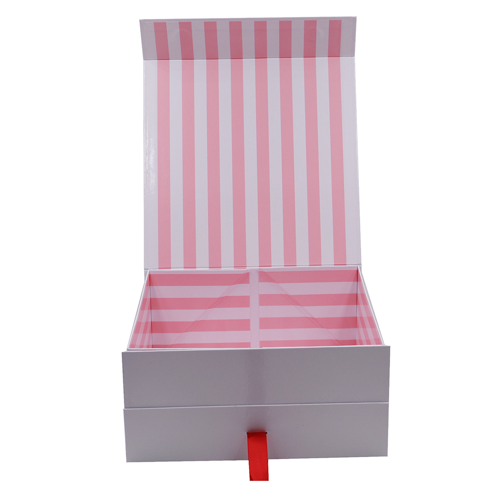 Customized Printing Foldable Gift Box Magnetic Closure Rigid Paper Packaging Box A6 Shallow Gift Boxes