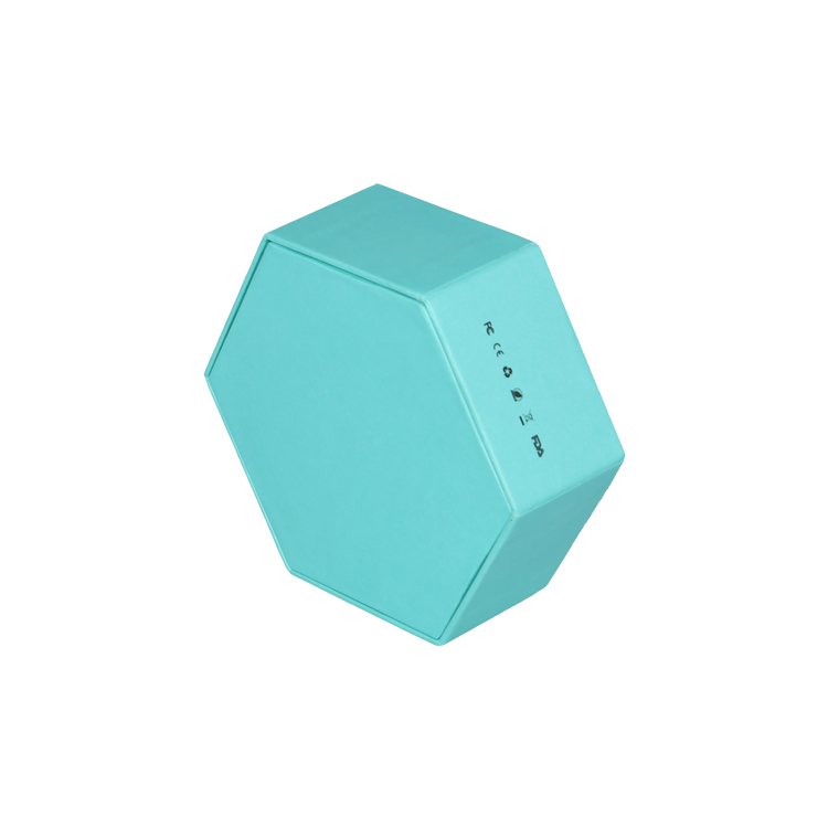 Hexagon Cardboard Gift Box for Electronics Packaging with Foam Holder and Spot UV Patterns